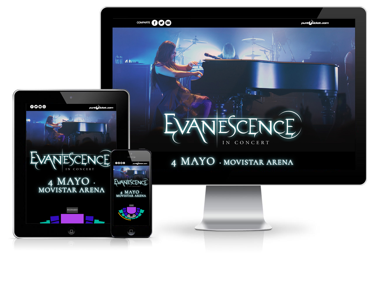 Evansescence Front End